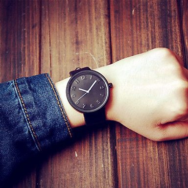Candy Color Unisex Strap Watches Men Luxury Brand Big Dial Men Watch for Lovers Lady Quartz Women Dress Watch Cool Watches Unique Watches