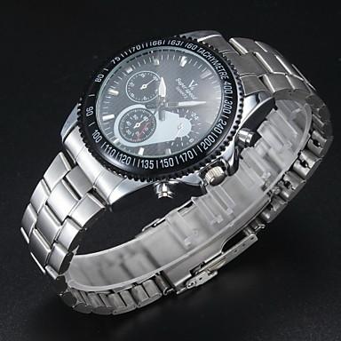 V6 Bărbați Ceas Elegant Quartz Quartz Japonez Aliaj Bandă Argint