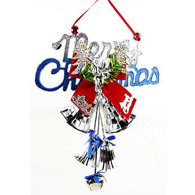 asılı kapı tokmağı Noel Baba hediye Noel ağacı jingle bell rastgele renk 28 * 20cm / 11 * 7.9