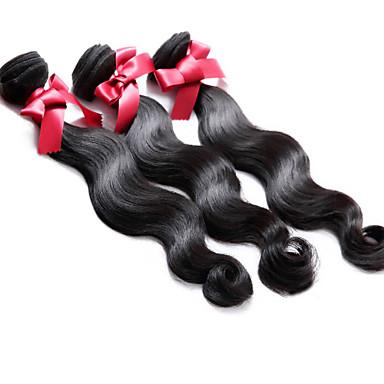Brazilian Hair Body Wave Human Hair Weaves 3 Pieces 0.3