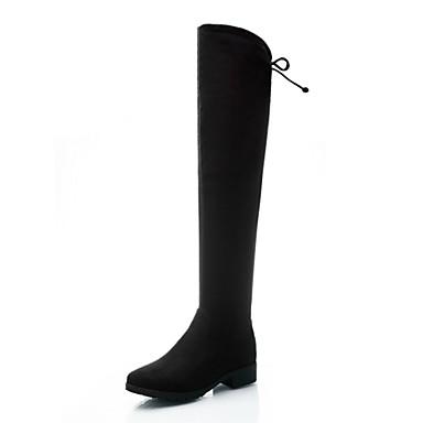 Støvler-Kunstlæder-Ridestøvler-Dame-Sort-Formelt Fritid-Lav hæl