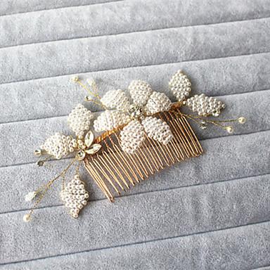Künstliche Perle Strass Haarkämme 1 Hochzeit Besondere Anlässe Draussen Kopfschmuck