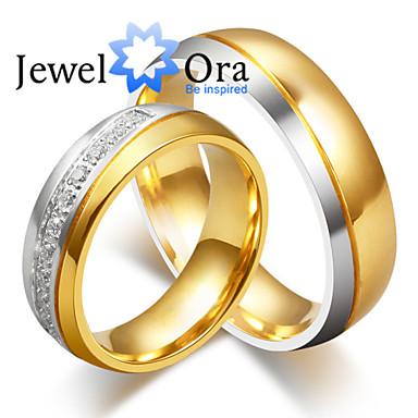 Homens Mulheres Anéis de Casal Anéis Grossos Amor Fashion Pedaço de Platina Aço Formato Circular Jóias Jóias Casamento Festa Presente