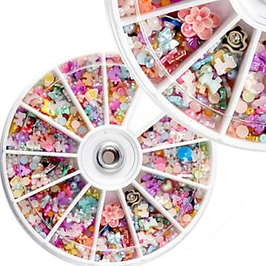 1PCS DIY Nail Art Slices 3D Polymer Clay Tiny Fimo Wheel Nail Art  Decoration Manicure