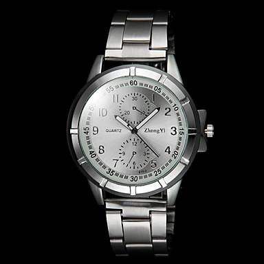 Herrn Armbanduhr Quartz Armbanduhren für den Alltag Legierung Band Charme Silber