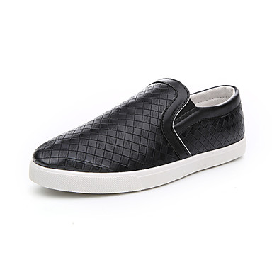 Men's Shoes Office & Career / Athletic / Casual Loafers Black / White / Animal Print