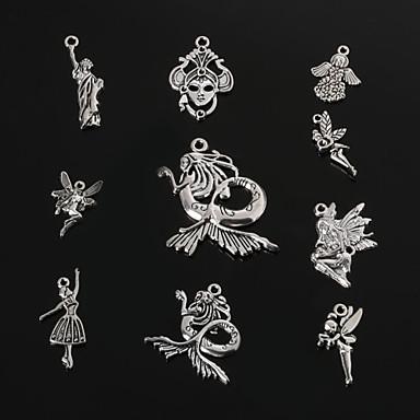 beadia antique metal prata pingentes charme rainha&a estátua da Liberdade&anjo&sereia pendant diy