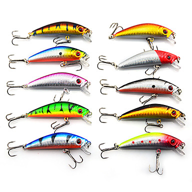 10 kom Tvrdi Mamac Minnow Lure Packs Csali Tvrdi Mamac Lure Packs Minnow g / Unca, 70 mm / 2-3/4