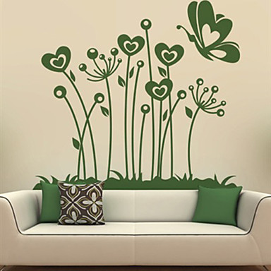 Animals / Botanical / Fashion Wall Stickers Plane Wall Stickers , PVC 68.6cm*61cm
