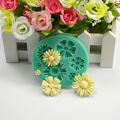 Bakeform Blomst Sjokolade Pai Kake Silikon Økovennlig Høy kvalitet 3D