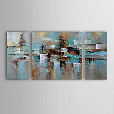 Maalattu Abstrakti Horisontaalinen Panoramic,Moderni 3 paneeli Hang-Painted öljymaalaus For Kodinsisustus