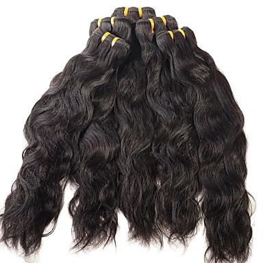 İnsan saç örgüleri Düz Brezilya Saçı Su Vanası 12 ay 1 Parça saç örgüleri