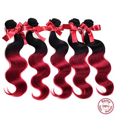 Malaysian Hair Body Wave Human Hair Weaves 1 Piece 0.05