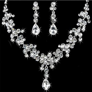 Per donna Corpo a pera Parure di gioielli Strass Donne Includere Per Matrimonio Feste Compleanno Fidanzamento Regalo Mascherata / Orecchini / Collane
