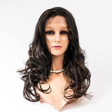 Gerçek Saç Dantelli peruk Dalgalı Komple Dantel % 100 Elle Bağlanmış Afrp Amerikan Peruk Doğal saç çizgisi Ombre Saç % 120 Yoğunluk #27