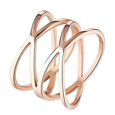 anel de aço inoxidável feminino estilo não aço inoxidável de pedra e aço inoxidável