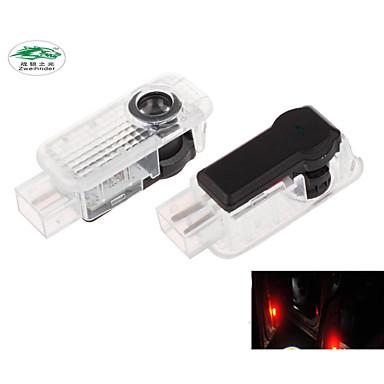 zweihnder®2pcs erityinen auto projektio johti projektori ovi varjo valo tervetullut valo laser logo (audi)