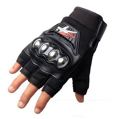 Moottoripyörän käsineet Lyhyt sormi Polyuretaani / Nylon / Lycra M / L / XL Musta