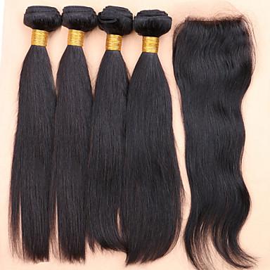 Hair Vetülék, zárral Perui haj Ravno haj sző