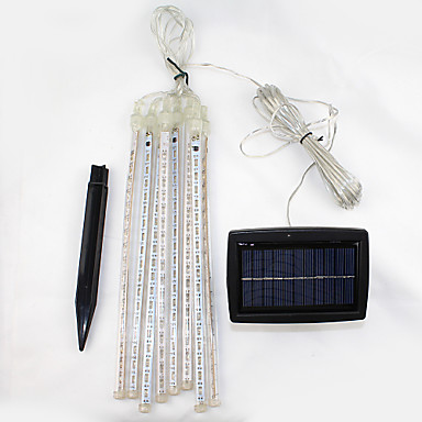 LED Solar Lights 144 LEDs Cold White Rechargeable / Decorative Battery