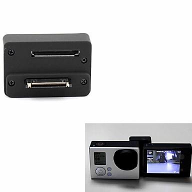 Ekran LCD Koruyucu Kılıf Lens Kapağı LCD Ekran Adaptörü Düğme Montaj Uygun İçin Aksiyon Kamerası Gopro 5 Gopro 4 Gopro 4 Silver Gopro 4