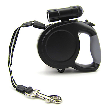 Köpek Tasma Kayışı LED Işıklar Ayarlanabilir / İçeri Çekilebilir Otomatik Video Sistemi Solid Naylon Siyah Mavi