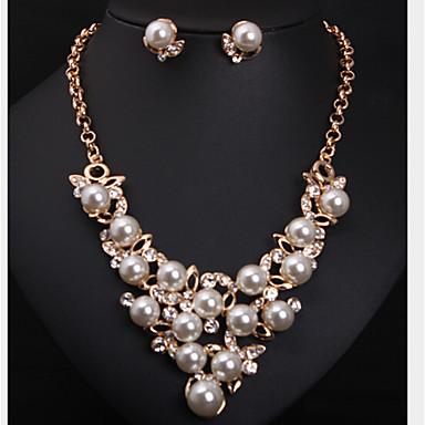 Damen Schmuckset Perle Künstliche Perle Strass Diamantimitate Aleación Niedlich Party nette Art Modisch Party Besondere Anlässe Jahrestag