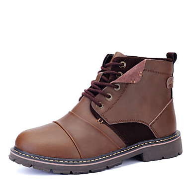 Men's Shoes Wedding / Outdoor / Office & Career / Party & Evening / Athletic / Casual Leather Boots Black / Brown