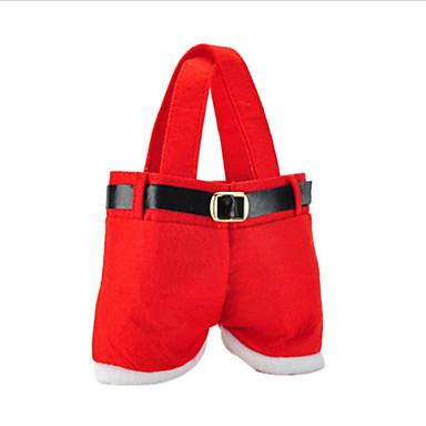 sıcak satış moda yılbaşı Santa pantolon elf ruh şeker torbaları şenlikli dekorasyon çuval sevimli çocuk hediye yumuşak bir bez kırmızı