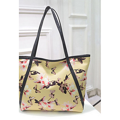 Women's Bags PU Tote for Shopping / Outdoor Yellow / Blue / Pink