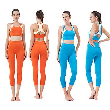 HaiYunLai® Γυναικεία Αμάνικο Τρέξιμο Σετ Ρούχων/Κοστούμια Αναπνέει Άνοιξη Καλοκαίρι Φθινόπωρο Αθλητικών ΕιδώνΓιόγκα Πιλάτες Φυσική