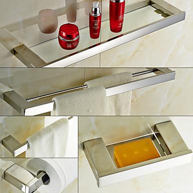 Set de accesorios de ba o contempor neo acero inoxidable - Accesorios bano acero inoxidable ...