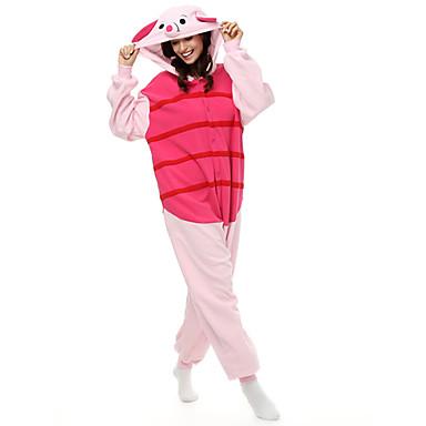 Kigurumi Pijamalar Piglet / Domuz Kostüm Polar Kumaş Sentetik Fiber Kigurumi Strenç Dansçı / Tulum Cosplay Festival / Tatil Hayvan