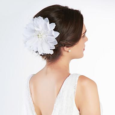 Gorgeous Satin / Tüll mit Strass Hochzeit, Braut, Blumen / Kopfstück
