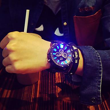 Erkek Bilek Saati Benzersiz Yaratıcı İzle Quartz LED Silikon Bant