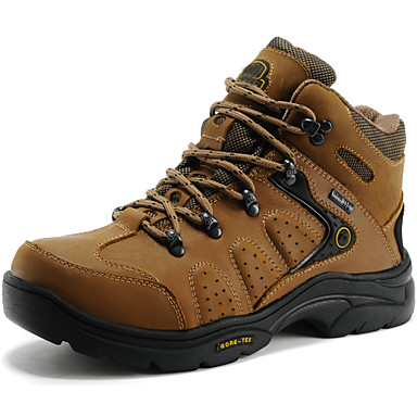 Unisex Shoes Nappa Leather Fall / Winter Comfort Athletic Shoes Hiking Shoes Light Brown