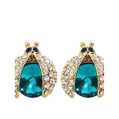 Vidali Küpeler sevimli Stil lüks mücevher Kristal Altın Kaplama imitasyon Pırlanta Mor Gül Yeşil Mavi Mücevher Için Parti Günlük 2pcs