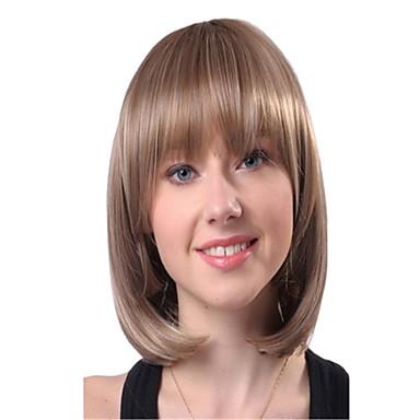 Synteettiset peruukit Classic / Kinky Straight Synteettiset hiukset Peruukki Naisten Suojuksettomat Päivittäin