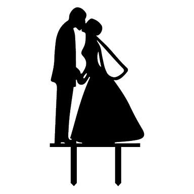 Pasta Üstü Figürler Klasik Tema Klasik Çift Arkilik Düğün Yıldönümü Çeyiz Görme ile 1 OPP