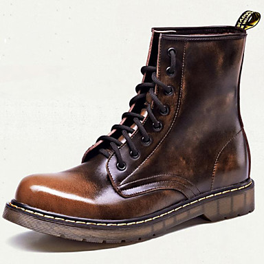 Unisex Boots Cowboy / Western Boots Fall Winter Cowhide Athletic Casual Outdoor Black Light Brown 1in-1 3/4in