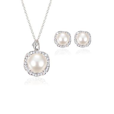 Mulheres Conjunto de jóias - Pérola, Imitações de Diamante Casamento Incluir Branco Para Casamento / Festa / Diário
