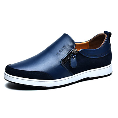 Men's Comfort Loafers Leather Spring / Fall Comfort Loafers & / Slip-Ons Slip Resistant Black / & Brown / Blue 00676f