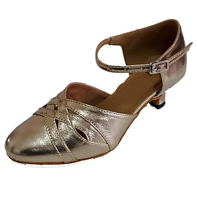 Women's Modern Shoes Leather Sandal Customized Heel Customizable Dance Shoes Gold / Indoor / Performance / Practice / Professional