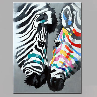 Pintados à mão Animais Vertical, Modern Tela de pintura Pintura a Óleo Decoração para casa 1 Painel