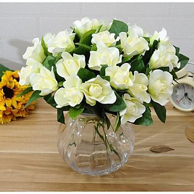 6 Ág Selyem Gardénia Asztali virág Művirágok