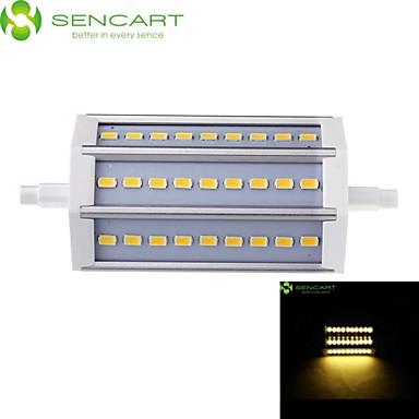 SENCART 800-900lm R7S LED Floodlight Recessed Retrofit 27 LED Beads SMD 5730 Dimmable Warm White / Cold White 85-265V / 1 pc