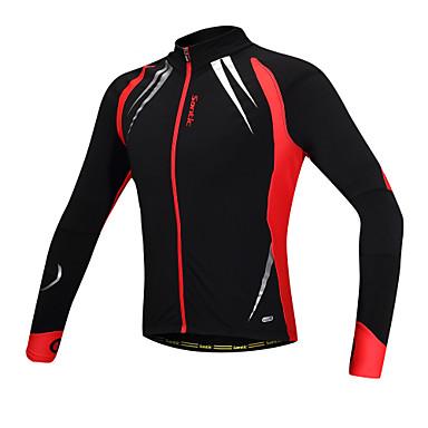 SANTIC Herrn Fahrradjacke Fahhrad Jacke / Oberteile warm halten, Windundurchlässig, Anatomisches Design Solide Elasthan, Vlies Schwarz