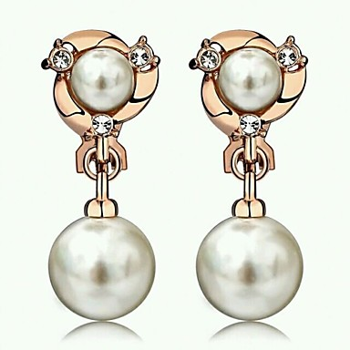 Earring Stud Earrings Jewelry Women Party / Daily / Casual Alloy / Imitation Pearl 20pcs Gold / Silver
