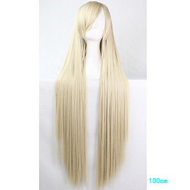 Synthetic Wig / Cosplay & Costume Wigs Straight With Bangs Synthetic Hair Side Part Blonde Wig Women's Long Capless / Monofilament / L Part