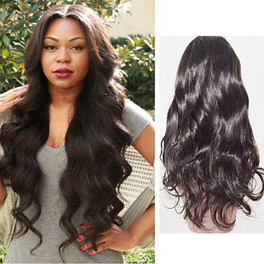 Human Hair Full Lace Lace Front Wig Body Wave 130% Density 100% Hand Tied African American Wig Natural Hairline Short Medium Long Women's